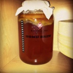 Kombucha brewing in the cabinet