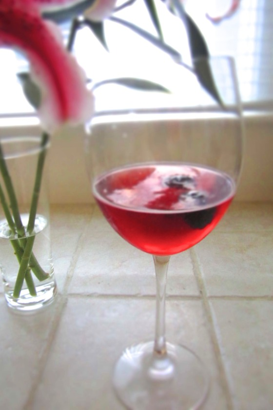 Kir Royale with Vanilla Cognac