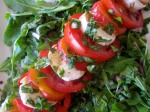 Necatrine, Tomato, and Mozzarella Salad