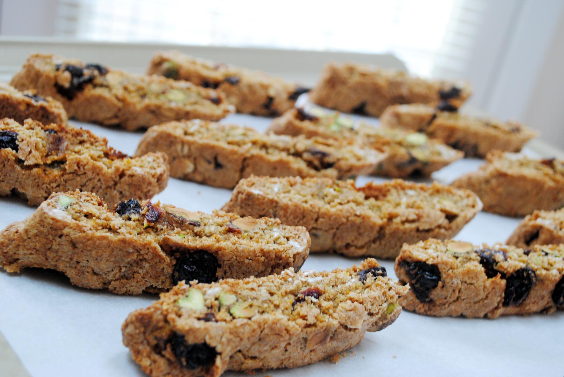 Whole Wheat Pistachio and Dried Cherry Biscotti | Pas de ...