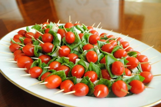Platter of Caprese Sticks