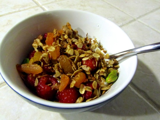 Yogurt, fruit, and granola