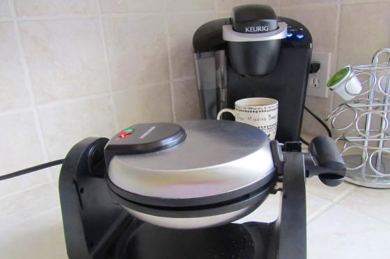 Waffle Iron and Coffee Maker