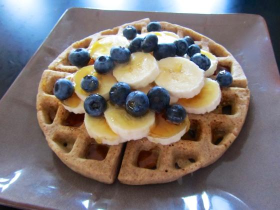 Waffle and Fruit