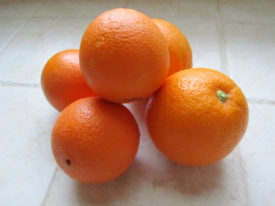 Beautiful bunch of oranges