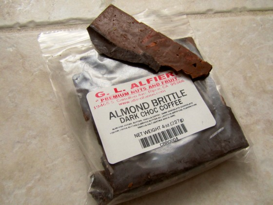 Dark Chocolate Coffee Almond Brittle