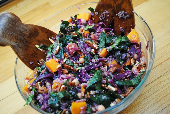 Kale, Cabbage, and Quinoa Salad