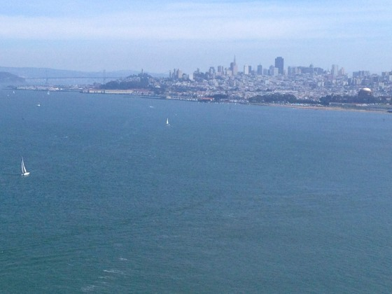 San Francisco, from the Golden Gate Bridge