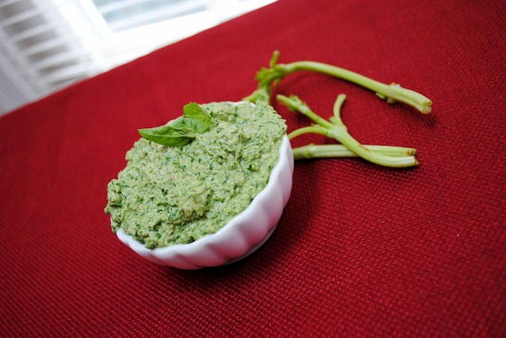 Raw Basil Pesto