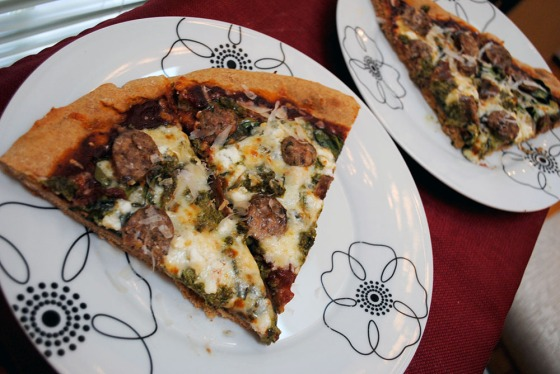 His and Hers pizza slices
