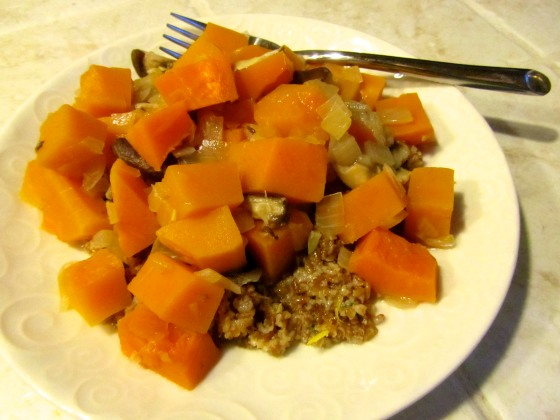 Butternut Squash-Shiitake Ragout with Bulgur