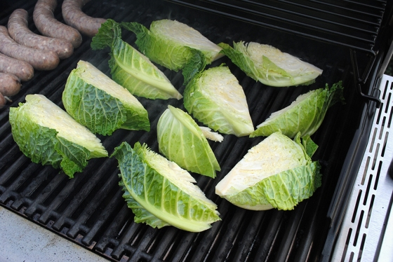 Grilling cabbage